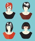 Woman Social Network Avatar collection Stock Image