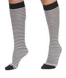 Woman socks with stripes royalty free stock photography