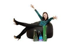 woman on sofa Stock Image