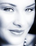 Woman with soft smile Stock Images