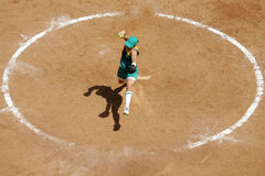 Woman softball 01 Royalty Free Stock Images