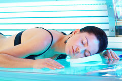 Woman in solarium Royalty Free Stock Photography