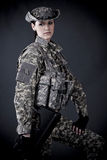 Woman Soldier Stock Photo