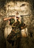 Woman soldier Royalty Free Stock Photo