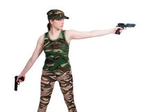 Woman Soldier Stock Images