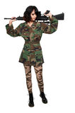 Woman Soldier Royalty Free Stock Images