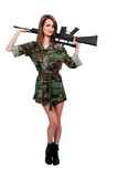 Woman Soldier Royalty Free Stock Photos