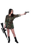 Woman Soldier Royalty Free Stock Image