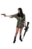 Woman Soldier Stock Photography