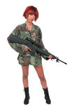 Woman Soldier Stock Image