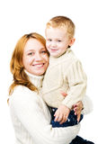 Woman and son Royalty Free Stock Images