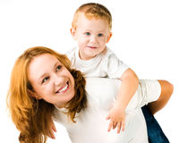Woman and son Royalty Free Stock Image