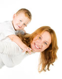 Woman and son Stock Photography