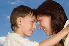 woman with  son Stock Photography