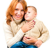 Woman and son Stock Image