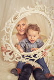 Woman with son Stock Image