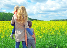 Woman with sons Royalty Free Stock Photography