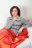 Woman with sore throat Royalty Free Stock Photography