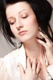 Woman in sorrow. Portrait of beautiful woman in sorrow Stock Image
