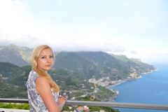 Woman in Southern Italy Stock Image