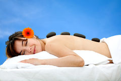 Woman at a Spa Stock Photo