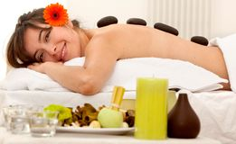 Woman at a Spa Royalty Free Stock Photography