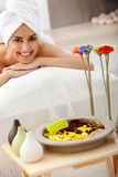 Woman at the spa Royalty Free Stock Photography