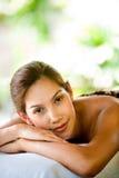 Woman At Spa Stock Image