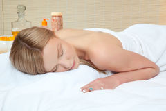 Woman in spa Stock Photo