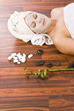 Woman during spa Royalty Free Stock Images