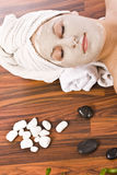 Woman during spa Stock Photo