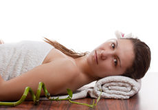 Woman in spa Royalty Free Stock Images