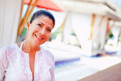 Woman at a spa Stock Photography