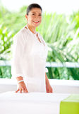 Woman at a spa Royalty Free Stock Photo