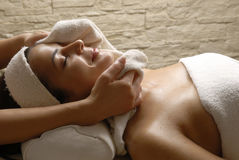 Woman spa Stock Images