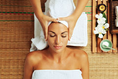 Woman in spa Stock Image