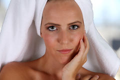 Woman At Spa Stock Image