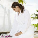Woman at spa. royalty free stock photos
