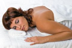 Woman on spa Stock Photography