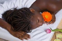 Woman in spa Stock Photos