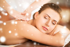 Woman in spa Royalty Free Stock Photos