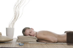 Woman in spa stock photo