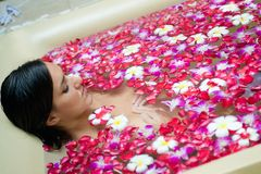 Woman At Spa Royalty Free Stock Images