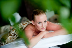Woman At Spa Stock Photos