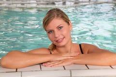 Woman in spa bath Royalty Free Stock Photos