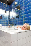 Woman in a Spa Bath Royalty Free Stock Photo