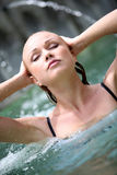 Woman in spa baths Stock Photography