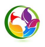 Woman spa beauty logo design Royalty Free Stock Photography