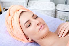 Woman and spa Stock Photo