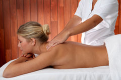 Woman in spa center Stock Photos